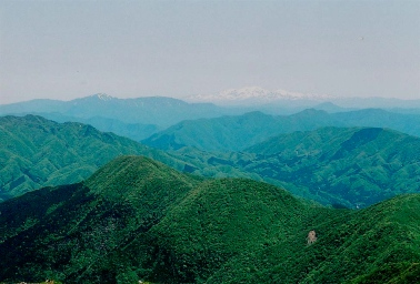 Hakusan, as seen from Mt. Ibuki