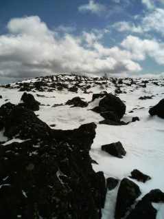 the rocky summit of Mt. Tateshina