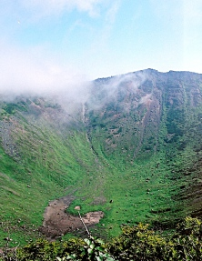 The crater of Mt. Yotei